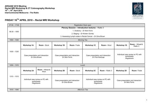 ARGANZ 2010 Program